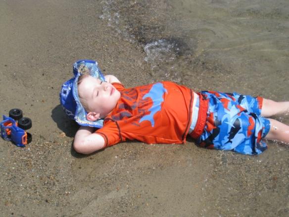 happy summer beach boy
