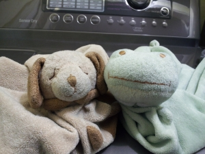 Froggy & Puppy fresh from the dryer